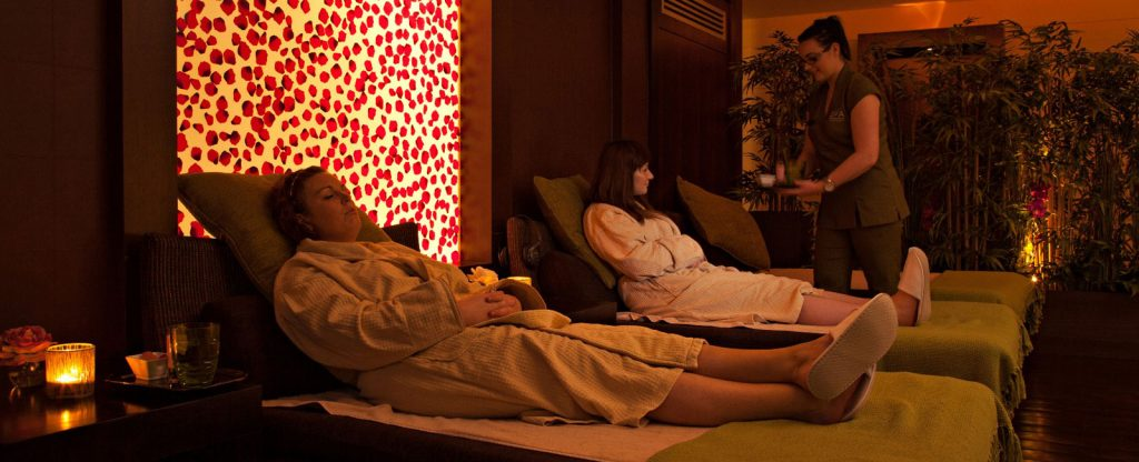 Mother and Daughter. The Kingsley hotel Spa facitlities. The thermal Suite. Relaxation