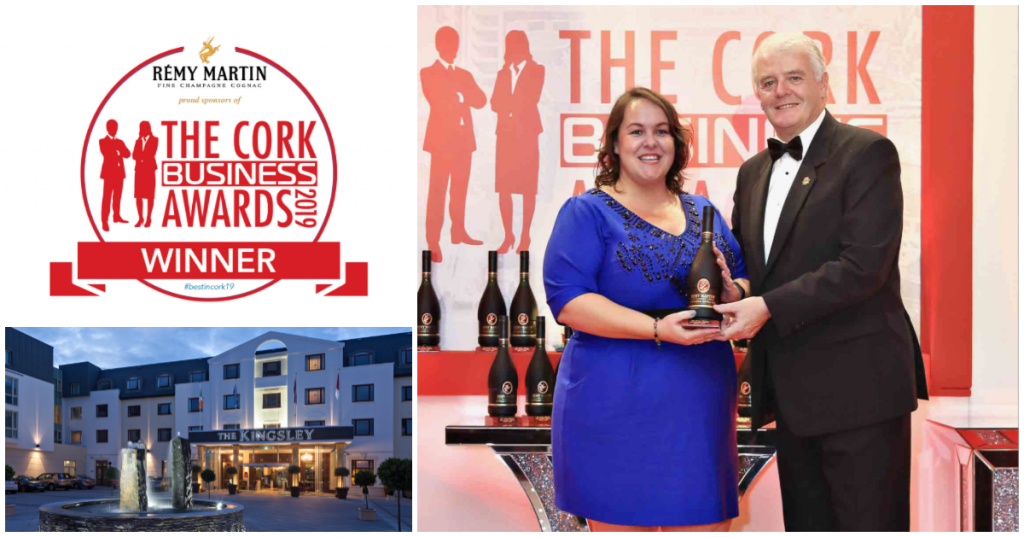 The Kingsley wins Cork City Hotel of the Year at The Rémy Martin Cork Business Awards 2019
